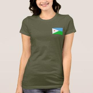 Djibouti Flag and Map dk T-Shirt