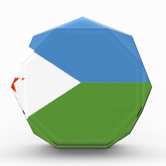 Djibouti Flag Acrylic Award