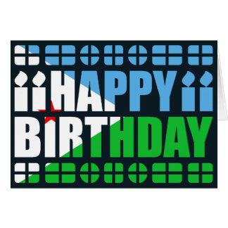 Djibouti Flag Birthday Card