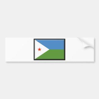Djibouti Flag Bumper Stickers