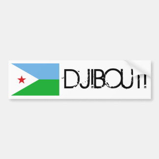 Djibouti Flag Bumper Sticker
