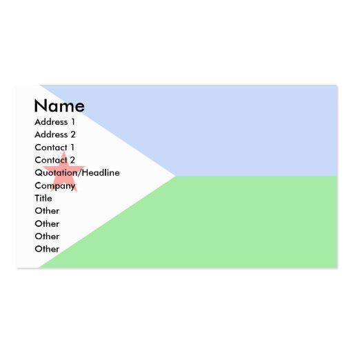 Djibouti Flag Business Card Templates