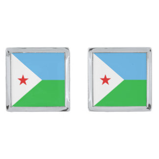 Djibouti Flag Cufflinks