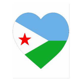 Djibouti Flag Heart Postcard
