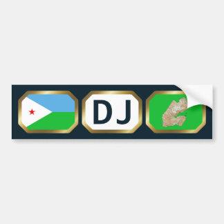 Djibouti Flag Map Code Bumper Sticker