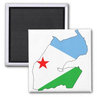Djibouti Flag map DJ Magnet