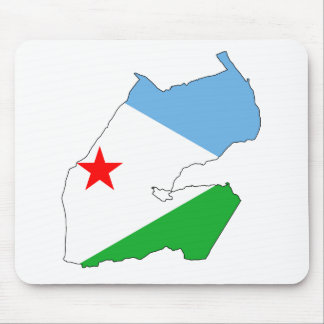 Djibouti Flag map DJ Mouse Pad