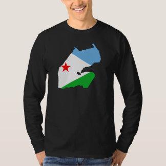 Djibouti Flag map DJ T-Shirt