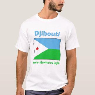 Djibouti Flag + Map + Text T-Shirt