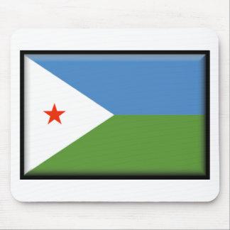 Djibouti Flag Mousepads