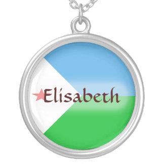 Djibouti Flag + Name Necklace