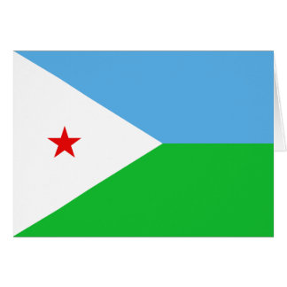 Djibouti Flag Notecard