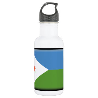 Djibouti Flag Stainless Steel Water Bottle