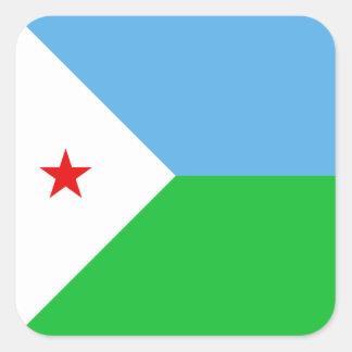 Djibouti Flag Sticker