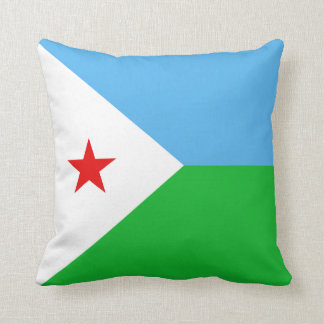 Djibouti Flag x Flag Pillow