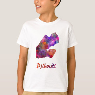 Djibouti in watercolor T-Shirt
