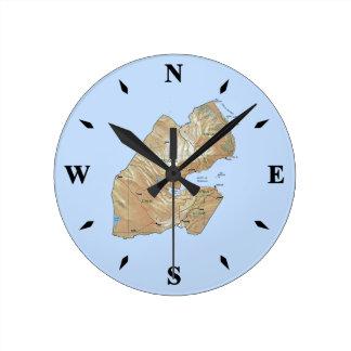 Djibouti Map Clock