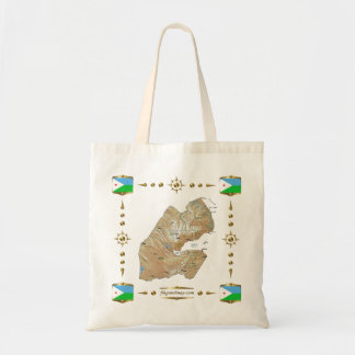Djibouti Map + Flags Bag