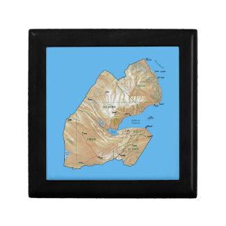 Djibouti Map Gift Box