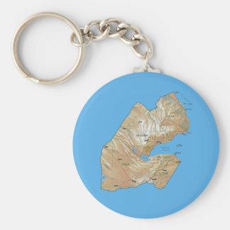 Djibouti Map Keychain