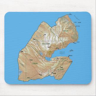 Djibouti Map Mousepad