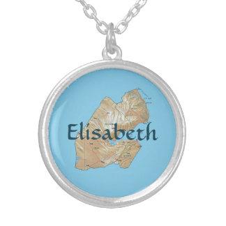 Djibouti Map + Name Necklace