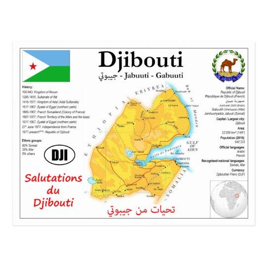 Djibouti map postcard | Zazzle.com
