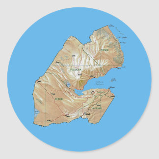 Djibouti Map Sticker