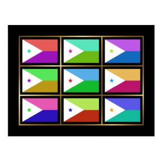 Djibouti Multihue Flags Postcard