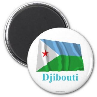 Djibouti Waving Flag with Name Magnet