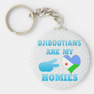 Djiboutians are my Homies Basic Round Button Keychain