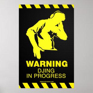 DJing In Progress - DJ Poster Turntable Deck