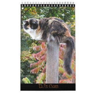 DJ's Cats One Page Calendar