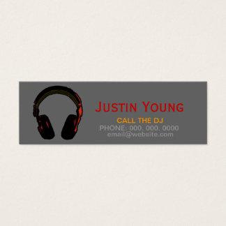 djs/discs jockeyes/música electrónica tarjetas de visita mini