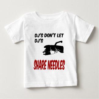 Dj's Don't Let Dj's Share Needles T Shirt