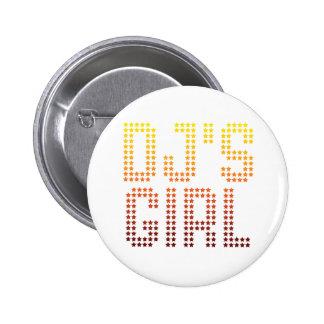 DJs Girl - Disc Jockey Girlfriend wife DJing Music Pinback Button