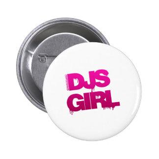 DJs Girl - Disc Jockey Music Girlfriend gf Pin