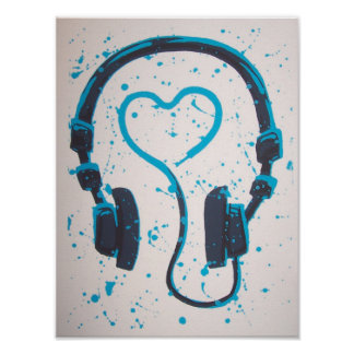 Headphone Posters | Zazzle