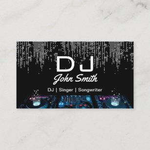 Music business cards 8000 music business card templates djs singer songwriter modern music event business card colourmoves