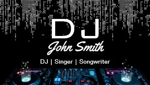 Dj business cards 1400 dj business card templates djs singer songwriter modern music event business card colourmoves