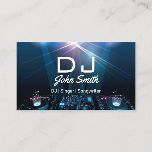 DJs Singer Songwriter Professional Music Business Card