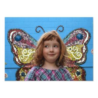 "Djuna Butterfly (flat card) 4.5"" X 6.25"" Invitation Card"