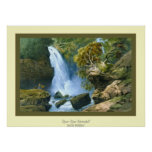Djur-Djur Waterfall~ Carlo Bossoli Impresiones