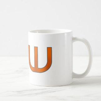 djw white coffee mug