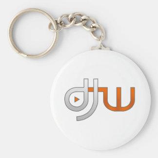 djw white keychain