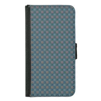 Dk Blue and Black Plaid Check S5 Wallet Case