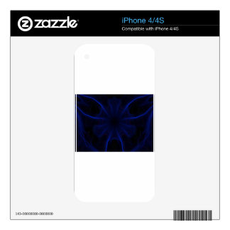 Dk. Blue laser Decals For The iPhone 4S