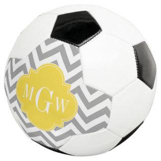Dk Gray Lg Chevron Pineapple Quatrefoil 3 Monogram Soccer Ball