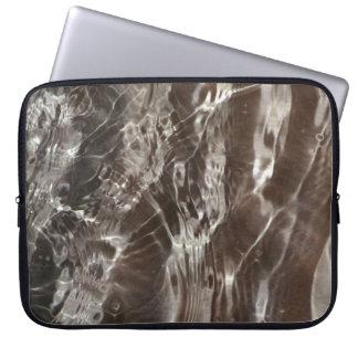 Dk Gray Water Ripples Neoprene Laptop Sleeve