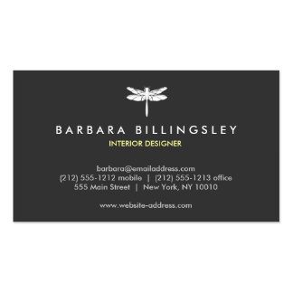 DK GRAY/WHITE DRAGONFLY LOGO Business Card